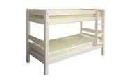 Кровать двухъярусная массив сосны,  белый воск.